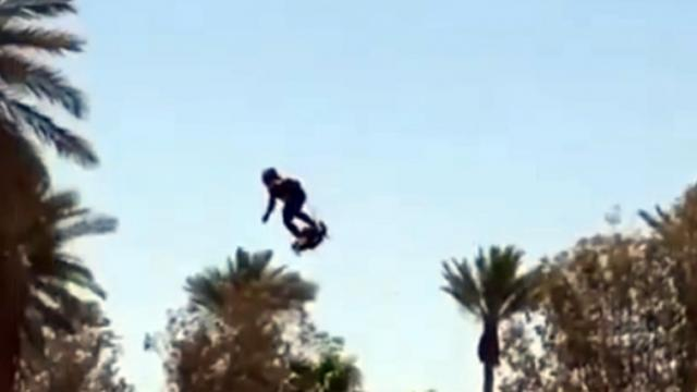 hoverboard soaring above Lake Havasu