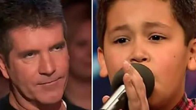 Rude Simon interrupts 12-year-old boy – then he sings another song and everyone loses it
