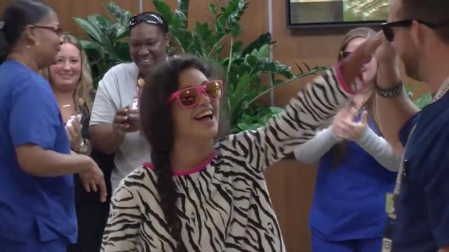 Willis-Knighton Cancer Center Proton Radiation Team Suprises Sophia With The Whip Nae Nae Flashmob