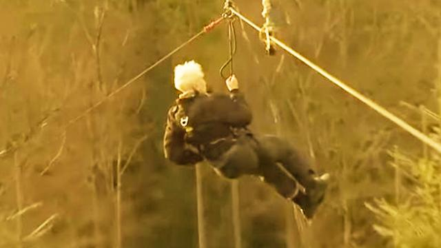 Daredevil Grandpa- 106-Year-Old man Breaks Zipwire Record