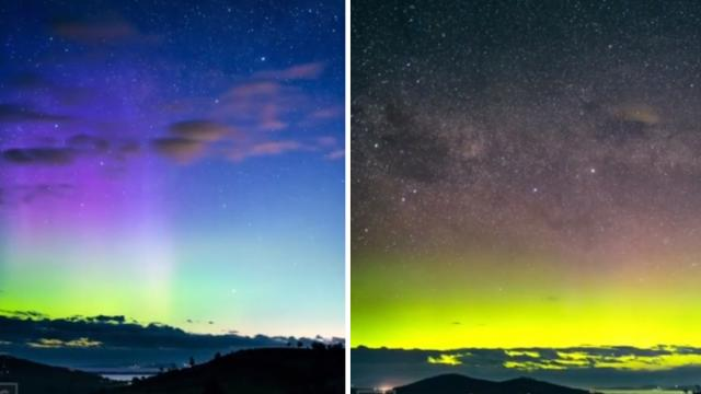 Aurora Australis Beams Vertical Light Rays in Tasmania_Medium