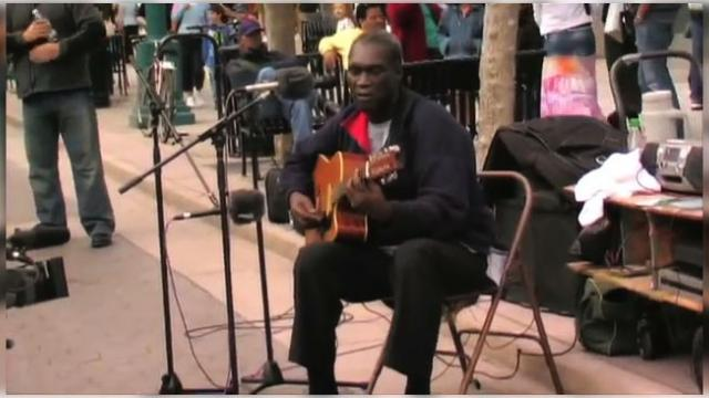 This Street Performer Starts Playing A Classic. When You See Who Joined In, You Won't Stop Smiling…