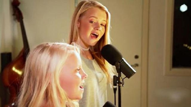 2 Sisters Step Into The Studio For The First Time. What They Sing. I Have Chills