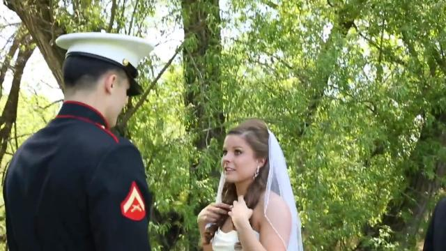 A Surprise Guest Interrupts Her Wedding Ceremony. Now Watch When She Turns Around…