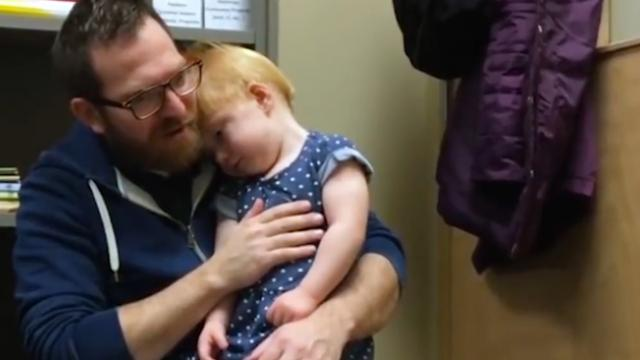 Toddler Hears For 1st Time After Cochlear Implant & Her Reaction To Dad's Voice Is Priceless.