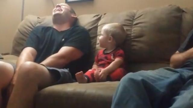 Cutest Little Boy Loves To Copy His Dad In The Most Adorable