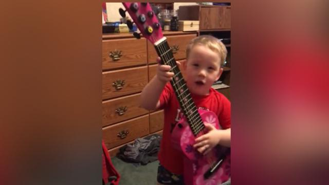 Musical Little Boy Serenades His Mom With A Love Song