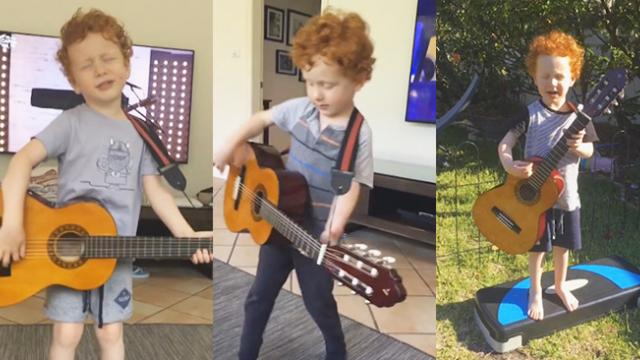 The mini shape of you! Meet the three-year-old Ed Sheeran super-fan whose only birthday wish is to s