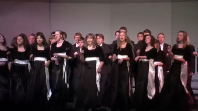 High School Choir Turns Backs On Audience Only To Spin Around And Knock Everyone Over With Laughter