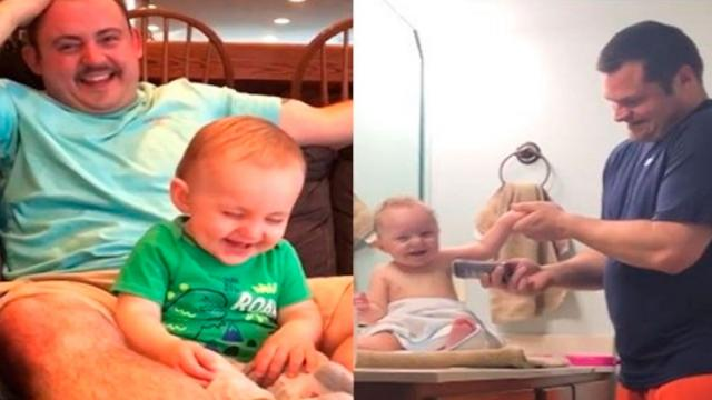 Funny Moments Between Father and Son Which Makes You Not Stop Laughing