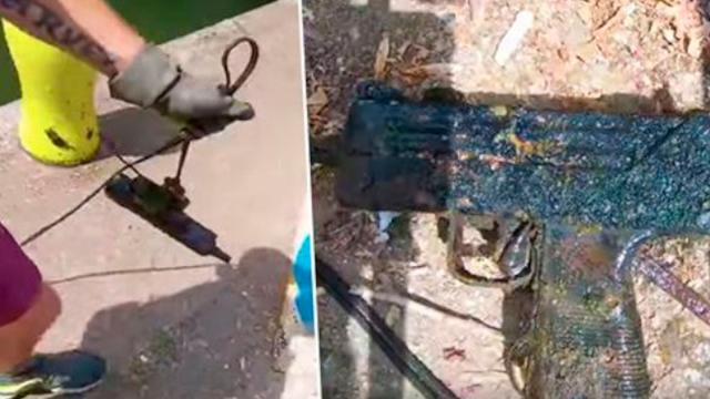 Man Reels In Sub-Machine Gun While Magnet Fishing And Says Its His Best Find