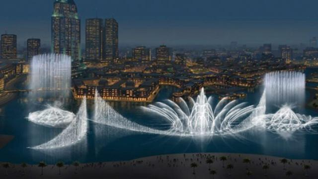 This is the grandest and most extraordinary water fountain show in the world—Dubai Fountain