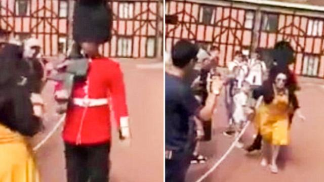 Guardsman Shoves Tourist Stood In His Way During Windsor Castle Drill - Pretty 52