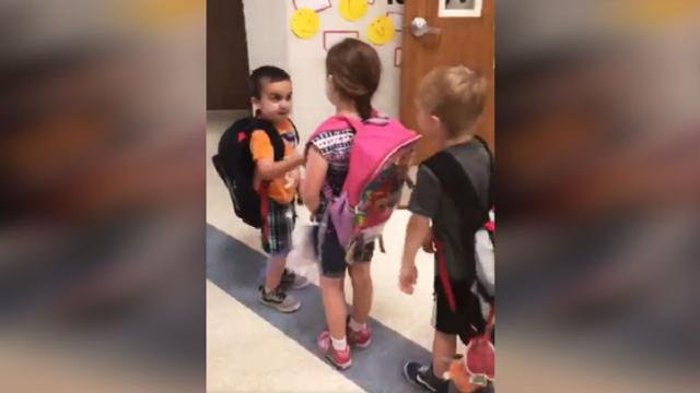 Texas Kindergarten Teacher Uses Handshakes To Teach Kids