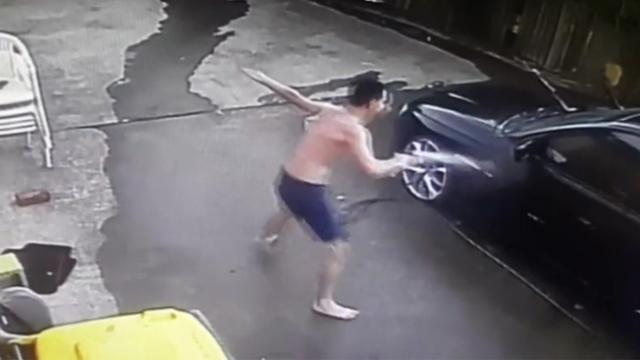 Teen Caught Hilariously Dancing While Cleaning Dad's Car_Large