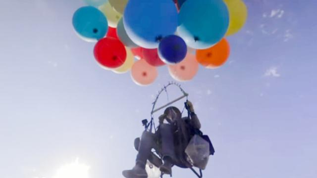 Party Balloons Lift Adventurer Over South Africa