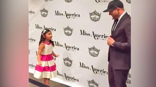 Adorable Little Girl Serenades Country Star With His Own Hit