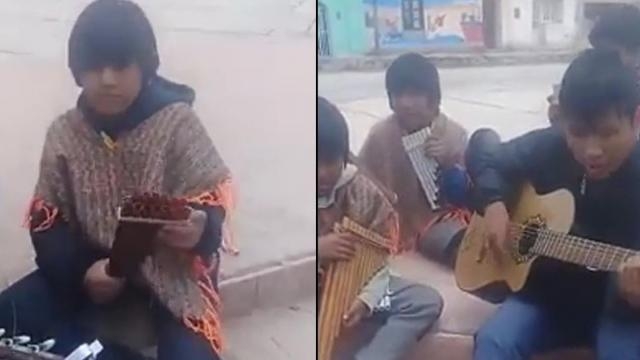 Estos hermosos ninos interpretaron una cancion en Quechua y son