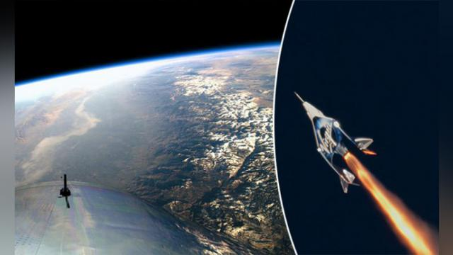 Virgin Galactic SpaceShipTwo reaches space for first time, and the view is spectacular