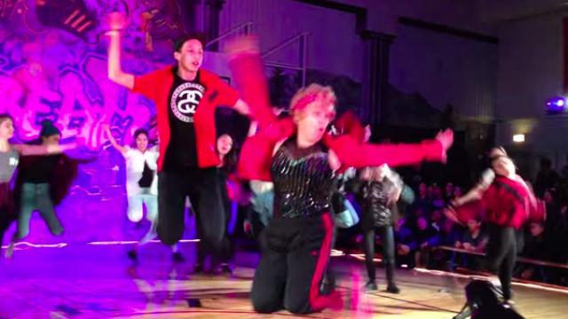60-Yr-Old Teacher Absolutely Kills Hip-Hop Dance Performance.