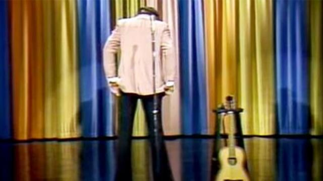 Andy Kaufman impersonates Elvis on Johnny Carson