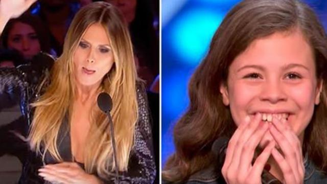 Shy 13-Year-Old Takes Takes The Stage, Powerful Voice Makes Heidi Slam The Golden Buzzer
