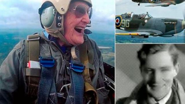 Hero WW2 Pilot 99 Takes to the Skies in a Spitfire for the Final Time
