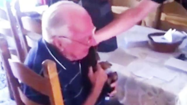 Devastated Grandpa Cries Happy Tears When Family Brings Him A