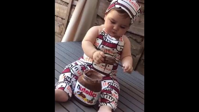 Baby Girl Tastes Nutella For The First Time