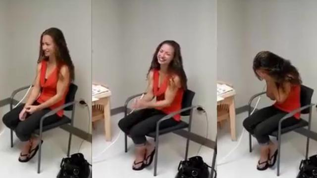 Deaf woman hears her husbands voice for the first time