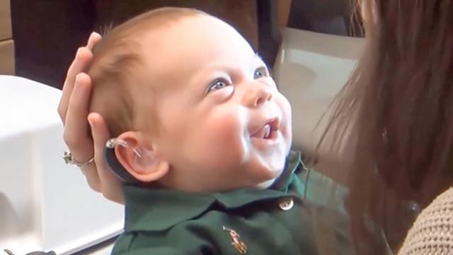 Watch Baby Boy's Smile Moment He Hears Mom and Dad's Voices for Very First Time_3