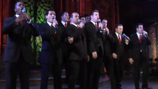 10 handsome men sing Christmas classics Watch when they start dancing and the audience goes crazy