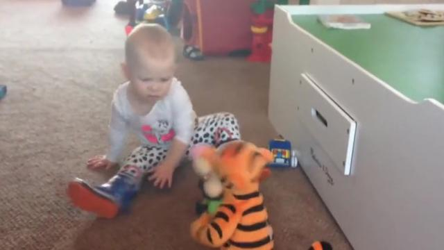 Talking Tigger Toy Terrorizes Startled Babys Play Room_Large