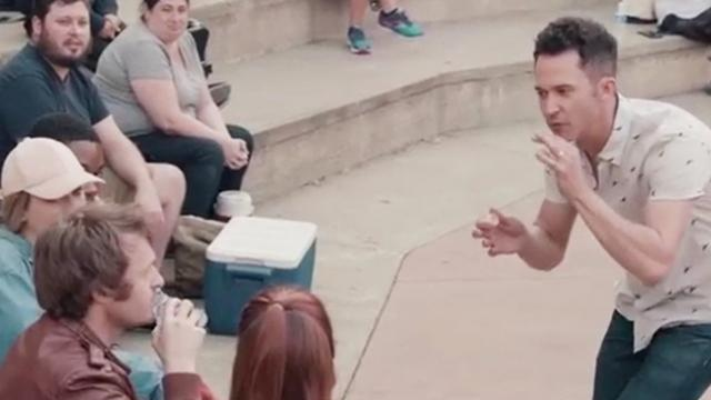 Magic for humans: Justin Willman makes black man think he is invisible that is truly amazing
