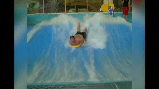 Chubby Dude Gets Totally Beat Up By Wave Pool