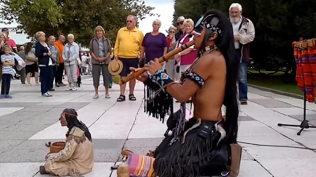 This street musician plays music from his heart and soul and touches millions