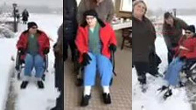 Watch 94-Year-old Get Out of Wheelchair to Make One Last Snow Angel