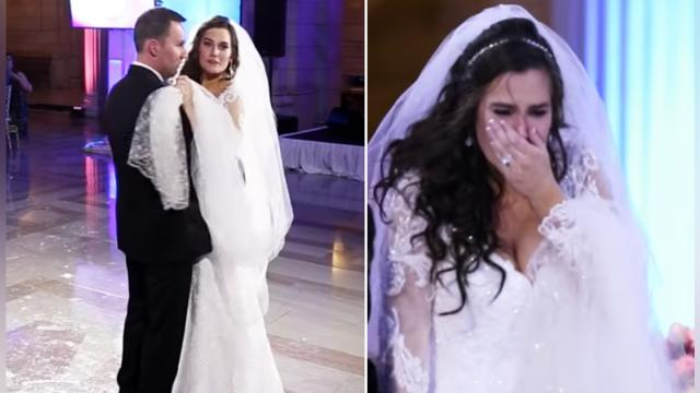 This bride thought her first dance was ruined… you won't believe what happened next