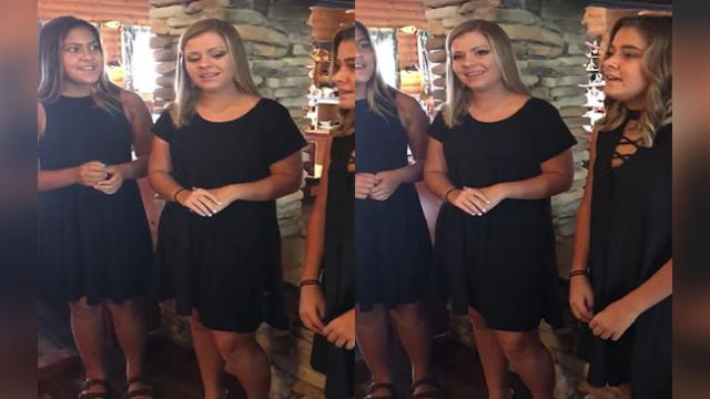 Entire Restaurant Goes Silent When 3 Sisters Begin A Capella National Anthem.