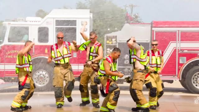 Firemen Take On Lip-Synch Challenge And Make Viewers Laugh And Cheer When They Start Dancing
