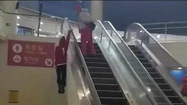 Next time youre at the mall give this guys escalator trick a