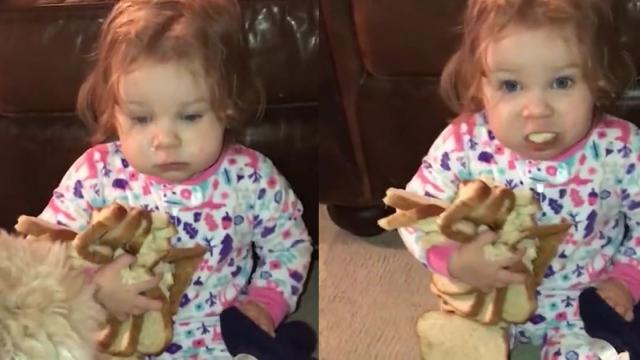 Carb Obsessed Baby Hugs Entire Loaf Of Bread And Refuses To Let