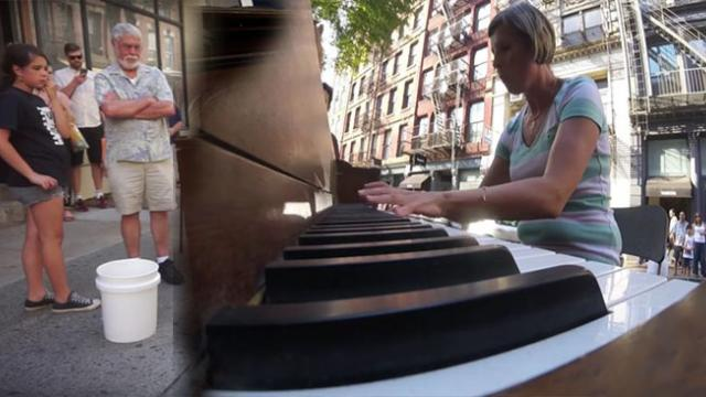 Brave Mom Asks To Play Stranger's Piano, But He Is Floored By Her Ragtime Performance.