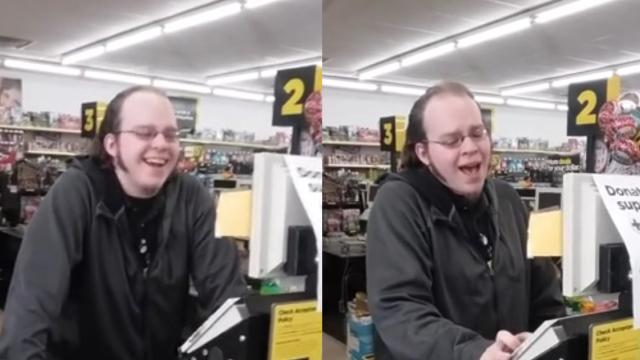 Cashier At A Variety Store Puts On Enjoyable Singing Performance