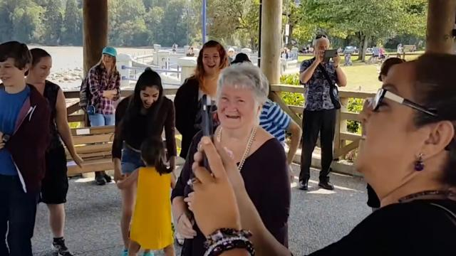 Watch Grandma Brought To Tears By Musical Theater Birthday Flash Mob