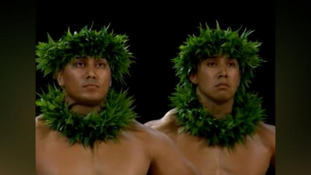 Hula Dancers Line Up And Take Their Spots. Now Watch The One In The Front, My Jaw Dropped!