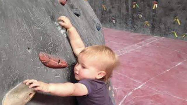When This Baby Grabbed The Climbing Wall, I Couldnt Believe What She Did Next