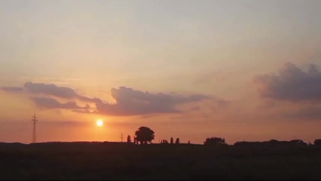 UFO Appears During A Stunning Sunset Time Lapse Video