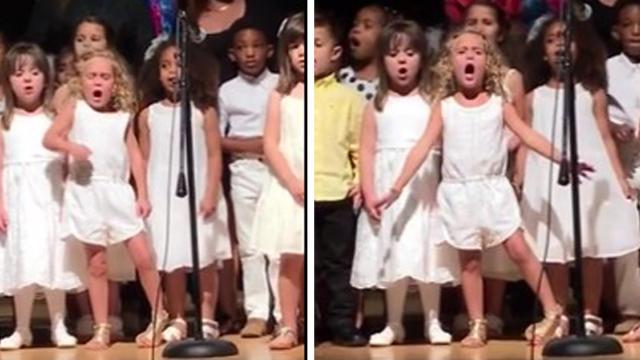 Little Girl Steals The Show By Doing This One Thing, Everyone