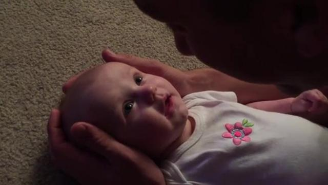 Daddy Begins To Hum For Baby Girl–As Soon As She Hears Him, Her